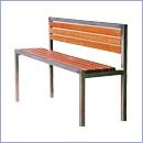 Ławka L41N ławki ze stali nierdzewnej ławki miejskie ławki parkowe nierdzewne meble miejskie