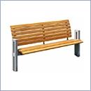 Ławka L043N ławki ze stali nierdzewnej ławki miejskie ławki parkowe nierdzewne meble miejskie