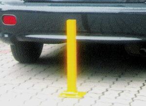 Blokada parkingowa składana BS53 blokady parkingowe meble miejskie mała architektura miejska