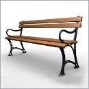 Ławka LG273 ławki parkowe ławki miejskie meble miejskie ławki ogrodowe mała architektura miejska