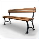 Ławka LG274 ławki parkowe ławki miejskie meble miejskie ławki ogrodowe mała architektura miejska