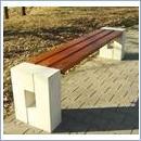 Ławka betonowa LB061B ławki parkowe ławki miejskie meble miejskie ławki betonowe mała architektura miejska