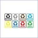 Naklejka do segregacji NS010/15 KOMPLET naklejki do segregacji odpadów naklejki do segregacji śmieci segregacja śmieci