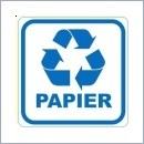 Naklejka do segregacji NS011/15 PAPIER naklejki do segregacji odpadów naklejki do segregacji śmieci segregacja śmieci