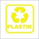 Naklejka do segregacji NS012/15 PLASTIK naklejki do segregacji odpadów naklejki do segregacji śmieci segregacja śmieci