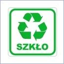 Naklejka do segregacji NS013/20 SZKŁO naklejki do segregacji odpadów naklejki do segregacji śmieci segregacja śmieci