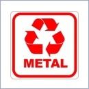 Naklejka do segregacji NS014/15 METAL naklejki do segregacji odpadów naklejki do segregacji śmieci segregacja śmieci
