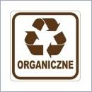 Naklejka do segregacji NS015/15 ORGANICZNE naklejki do segregacji odpadów naklejki do segregacji śmieci segregacja śmieci