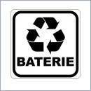 Naklejka do segregacji NS016/20 BATERIE naklejki do segregacji odpadów naklejki do segregacji śmieci segregacja śmieci