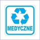 Naklejka do segregacji NS017/15 MEDYCZNE naklejki do segregacji odpadów naklejki do segregacji śmieci segregacja śmieci