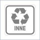 Naklejka do segregacji NS018/20 INNE naklejki do segregacji odpadów naklejki do segregacji śmieci segregacja śmieci