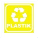 Naklejka do segregacji NS022/15 PLASTIK naklejki do segregacji odpadów naklejki do segregacji śmieci segregacja śmieci
