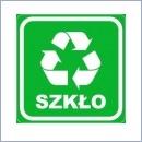Naklejka do segregacji NS023/20 SZKŁO naklejki do segregacji odpadów naklejki do segregacji śmieci segregacja śmieci
