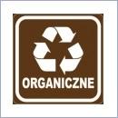 Naklejka do segregacji NS025/20 ORGANICZNE naklejki do segregacji odpadów naklejki do segregacji śmieci segregacja śmieci