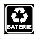 Naklejka do segregacji NS026/15 BATERIE naklejki do segregacji odpadów naklejki do segregacji śmieci segregacja śmieci