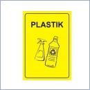 Naklejka do segregacji NS072/A4 PLASTIK naklejki do segregacji odpadów naklejki do segregacji śmieci segregacja śmieci