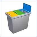 Pojemnik PW007 pojemniki do segregacji odpadów wewnątrz kosze do segregacji śmieci segregacja odpadów