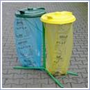 Stojak SW005 pojemniki do segregacji stojaki na worki segregacja odpadów