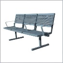 Ławka L040NP ławki ze stali nierdzewnej ławki miejskie ławki parkowe nierdzewne meble miejskie
