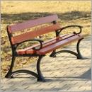 Ławka L002Bis ławki parkowe ławki miejskie meble miejskie mała architektura miejska
