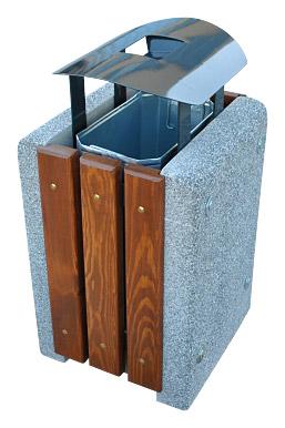 Kosz betonowy KT14-1