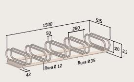 Stojak rowerowy SR38-2