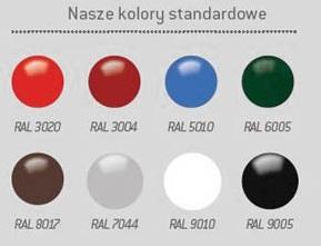 Popielnica słupek KP015 kolory