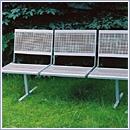 Ławka L040N ławki ze stali nierdzewnej ławki miejskie ławki parkowe nierdzewne meble miejskie