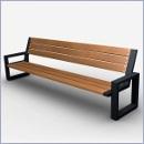 Ławka L090 ławki parkowe ławki miejskie meble miejskie mała architektura miejska
