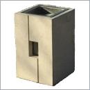 Kosz betonowy KT61 kosze betonowe kosze parkowe kosze miejskie meble miejskie