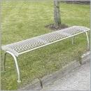 Ławka L059N ławki ze stali nierdzewnej ławki miejskie ławki parkowe nierdzewne meble miejskie