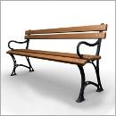 Ławka LG275 ławki parkowe ławki miejskie meble miejskie ławki ogrodowe mała architektura miejska