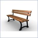 Ławka L001AS ławki parkowe ławki miejskie meble miejskie mała architektura miejska
