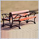 Ławka L001PDuo ławki parkowe ławki miejskie meble miejskie mała architektura miejska