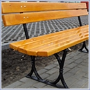 Ławka L04 ławki parkowe ławki miejskie meble miejskie mała architektura miejska