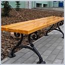 Ławka L005 ławki parkowe ławki miejskie meble miejskie mała architektura miejska