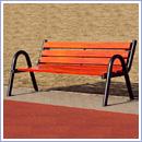 Ławka L015 ławki parkowe ławki miejskie meble miejskie mała architektura miejska