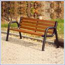 Ławka L016Bis ławki parkowe ławki miejskie meble miejskie mała architektura miejska