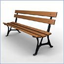 Ławka L071 ławki parkowe ławki miejskie meble miejskie mała architektura miejska