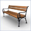 Ławka L072 ławki parkowe ławki miejskie meble miejskie mała architektura miejska