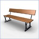 Ławka L078 ławki parkowe ławki miejskie meble miejskie mała architektura miejska