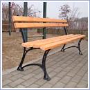 Ławka LG201 ławki parkowe ławki miejskie meble miejskie ławki ogrodowe mała architektura miejska