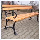 Ławka LG201P ławki parkowe ławki miejskie meble miejskie ławki ogrodowe mała architektura miejska