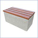 Ławka betonowa LB012 ławki parkowe ławki miejskie meble miejskie ławki betonowe mała architektura miejska
