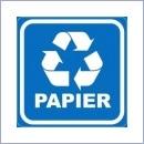 Naklejka do segregacji NS021/20 PAPIER naklejki do segregacji odpadów naklejki do segregacji śmieci segregacja śmieci