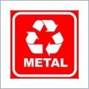 Naklejka do segregacji NS024/20 METAL naklejki do segregacji odpadów naklejki do segregacji śmieci segregacja śmieci