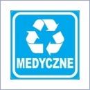 Naklejka do segregacji NS027/15 MEDYCZNE naklejki do segregacji odpadów naklejki do segregacji śmieci segregacja śmieci