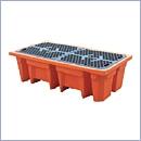 Paleta wychwytująca PN023 palety wychwytujące pod beczki pojemniki na odpady niebezpieczne