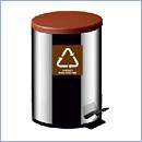 Pojemnik PW96/6 pojemniki do segregacji odpadów wewnątrz kosze do segregacji śmieci segregacja odpadów