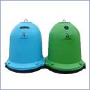 Pojemnik PZ008 pojemniki do segregacji odpadów zewnątrz kosze do segregacji śmieci segregacja odpadów